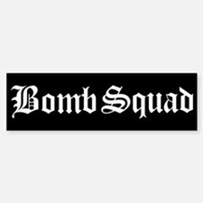 Bomb Squad Bumper Car Car Sticker