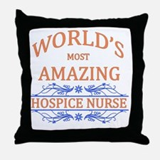 Hospice Nurse Throw Pillow