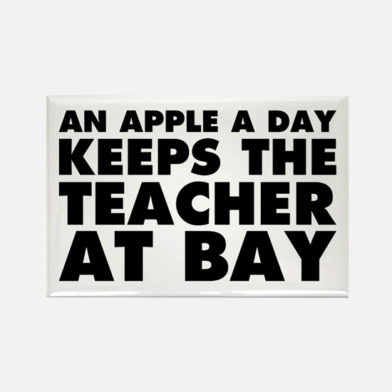 Apple a Day Teacher at Bay Rectangle Magnet