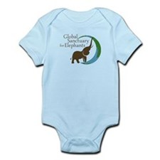 Baby Body Suit In Light Colors