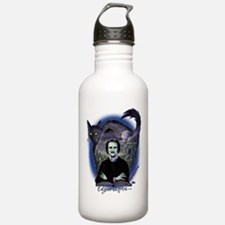 Edgar Allan Poe Black Water Bottle