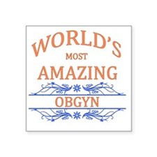 "OBGYN Square Sticker 3"" x 3"""