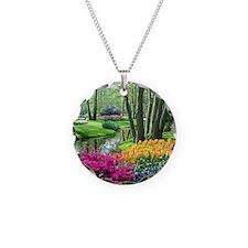 beautiful garden 2 Necklace Circle Charm