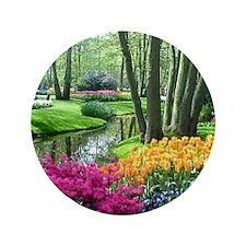 "beautiful garden 2 3.5"" Button"