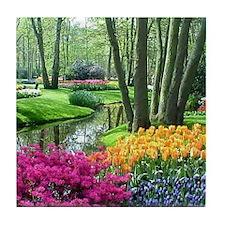 beautiful garden 2 Tile Coaster