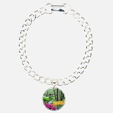 beautiful garden 2 Charm Bracelet, One Charm