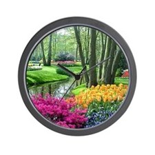 beautiful garden 2 Wall Clock