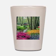 beautiful garden 2 Shot Glass