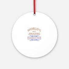 Pharmacy Tech Round Ornament