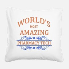 Pharmacy Tech Square Canvas Pillow