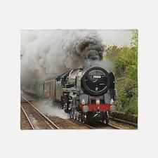 locomotive train engine 2 Throw Blanket