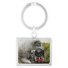 locomotive train engine 2 Landscape Keychain