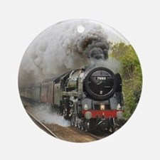 locomotive train engine 2 Round Ornament