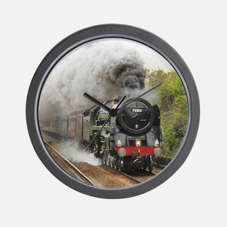 locomotive train engine 2 Wall Clock