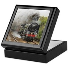 locomotive train engine 2 Keepsake Box