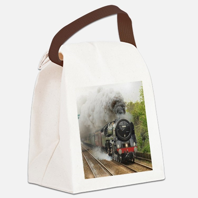 locomotive train engine 2 Canvas Lunch Bag