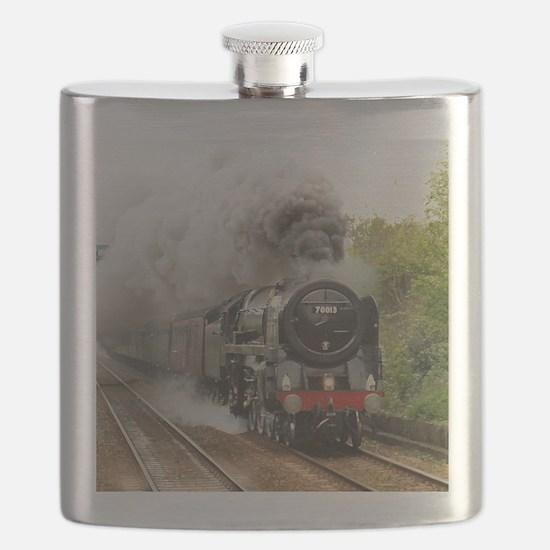 locomotive train engine 2 Flask