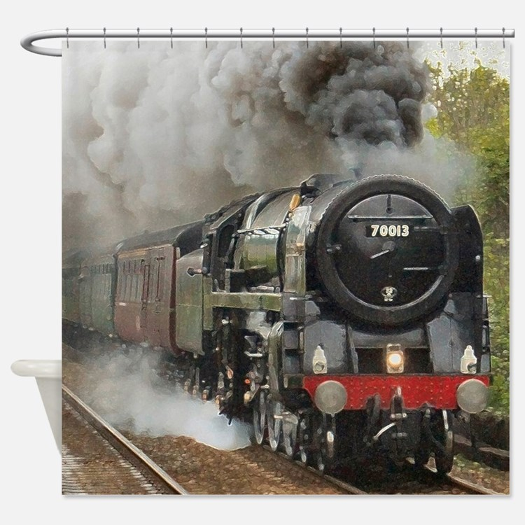 Cute Train Shower Curtain