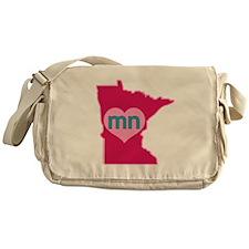 MN Heart Messenger Bag