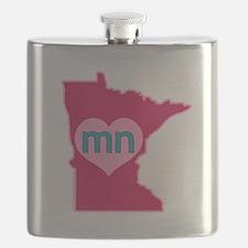 MN Heart Flask