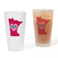 MN Heart Drinking Glass