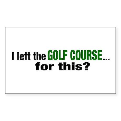 Golf Course Rectangle Sticker