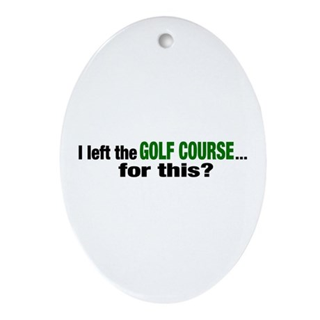 Golf Course Oval Ornament
