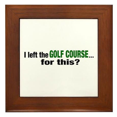 Golf Course Framed Tile