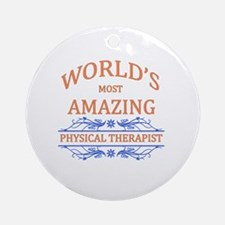 Physical Therapist Round Ornament