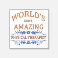 "Physical Therapist Square Sticker 3"" x 3"""