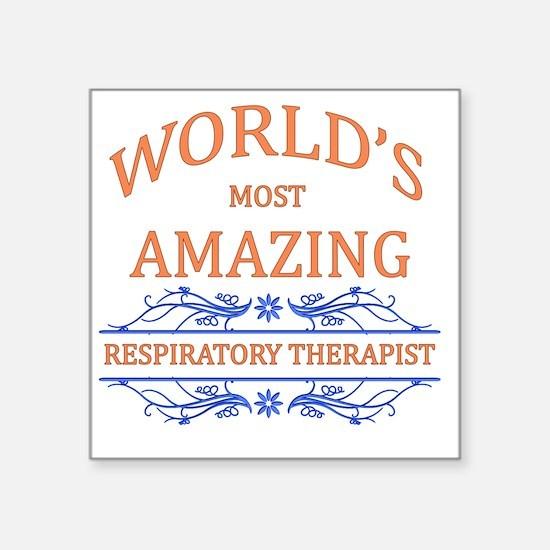 """Respiratory Therapist Square Sticker 3"""" x 3"""""""
