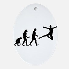 Leaping Evolution Ornament (Oval)