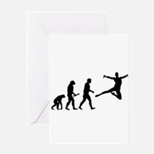 Leaping Evolution Greeting Cards