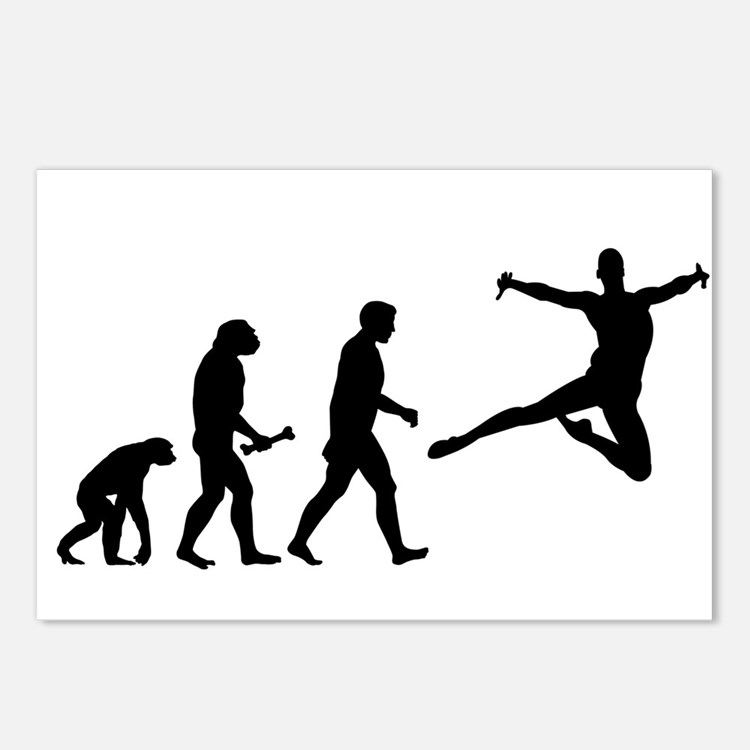 Leaping Evolution Postcards (Package of 8)