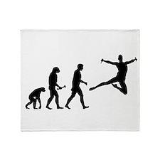Leaping Evolution Throw Blanket