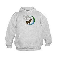 Hoodie With Logo And I Love Elephants