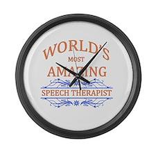 Speech Therapist Large Wall Clock