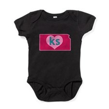 KS Heart Baby Bodysuit