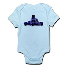 Kart Racing Blue and White Body Suit
