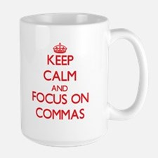 Keep Calm and focus on Commas Mugs
