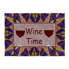 Wine Time Purple grapes 5'x7'Area Rug