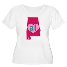 AL Heart Plus Size T-Shirt