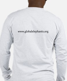 Long Sleeve T-Shirt, White And Grey