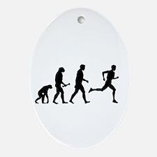 Male Runner Evolution Ornament (Oval)