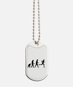 Male Runner Evolution Dog Tags