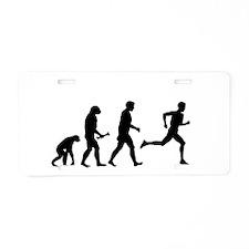 Male Runner Evolution Aluminum License Plate