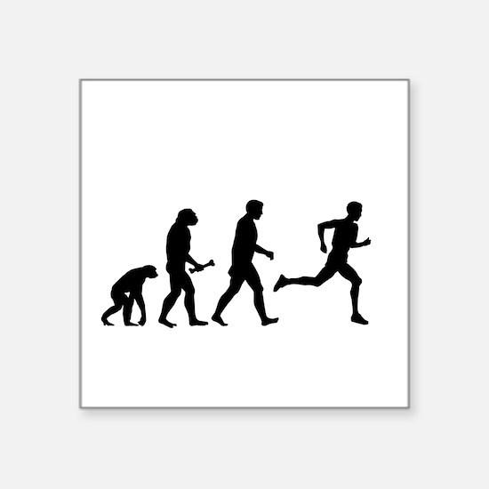 Male Runner Evolution Sticker