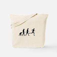 Male Runner Evolution Tote Bag