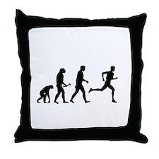 Male Runner Evolution Throw Pillow