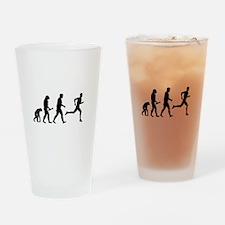 Male Runner Evolution Drinking Glass